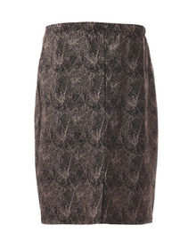 Office Wear Womens Fashion Skirts Stylish Pencil Skirts With Abstract Pattern