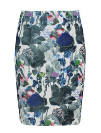 Colorful Printed Ladies Fashion Skirts Slim Fit Pencil Skirt With Invisible Zipper