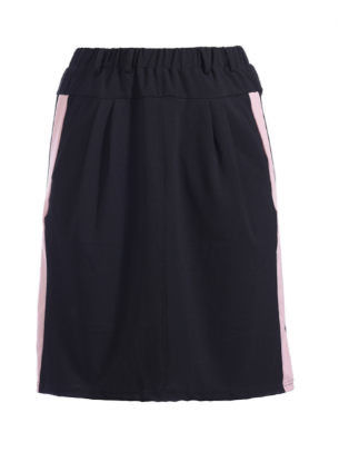 Dailywear Short Summer Skirts Women A-Line Knitted Dress With White Side Stripe